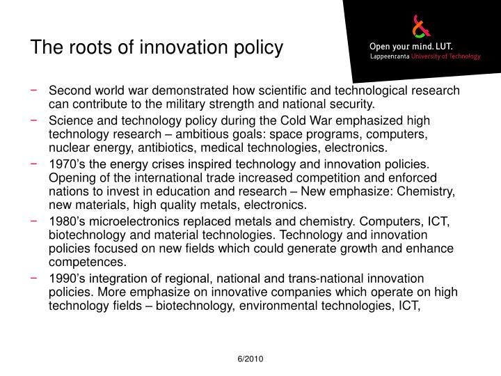 The roots of innovation policy