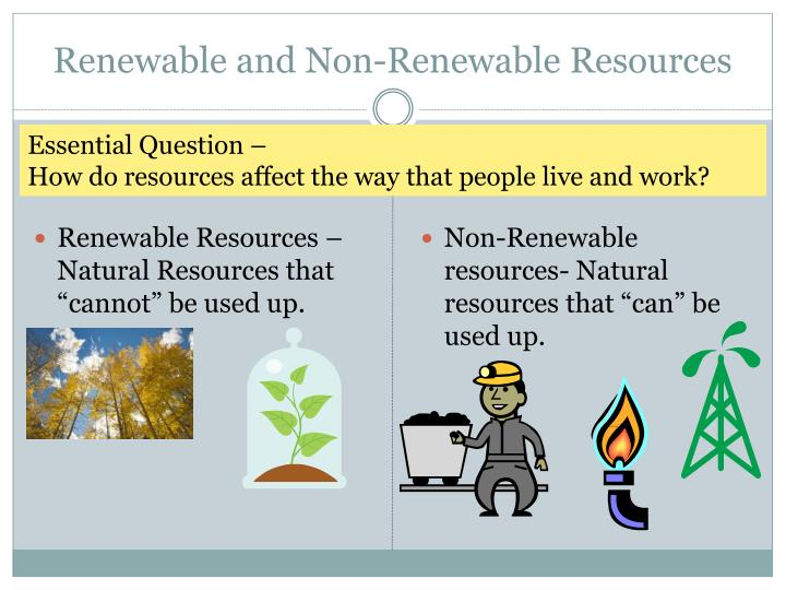 PPT - Renewable and Non-Renewable Resources PowerPoint ...