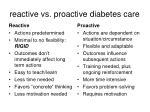 reactive vs proactive diabetes care