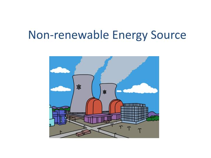 non renewable energy sources