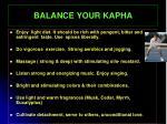balance your kapha