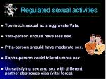 regulated sexual activities