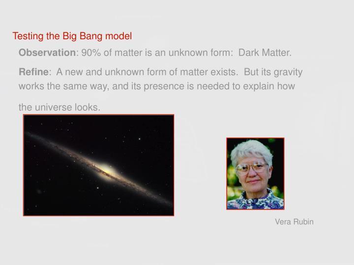 Testing the Big Bang model