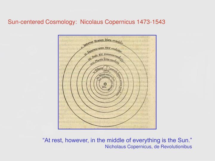 Sun-centered Cosmology: