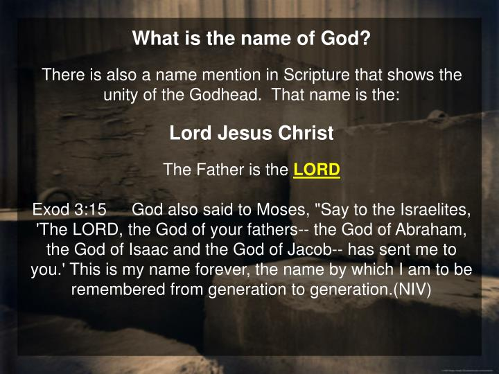 What is the name of God?