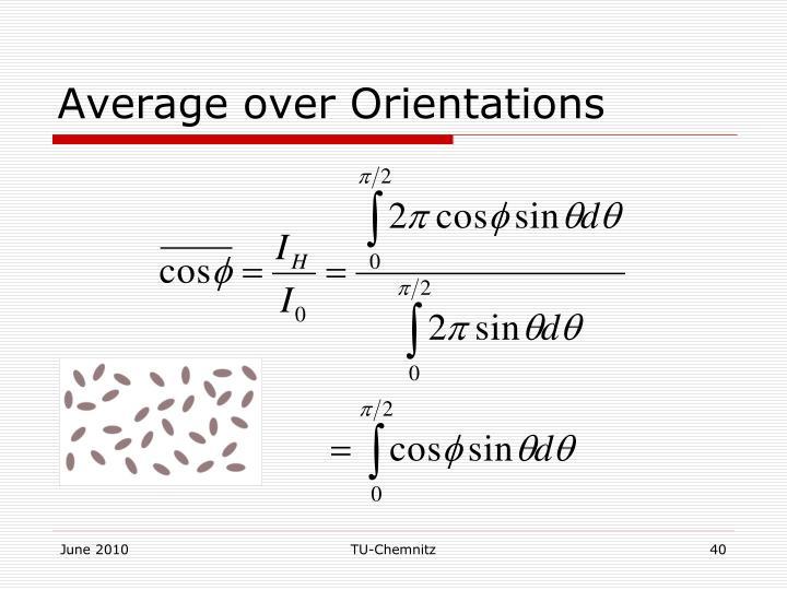 Average over Orientations