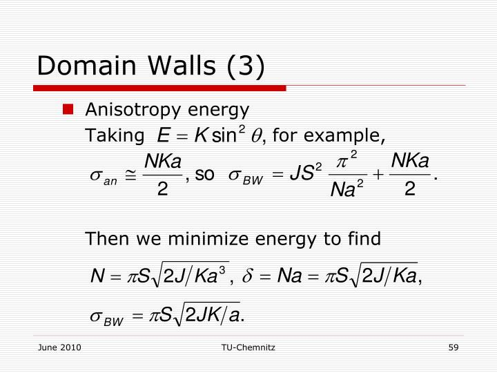 Domain Walls (3)