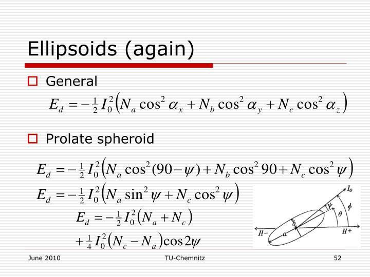 Ellipsoids (again)
