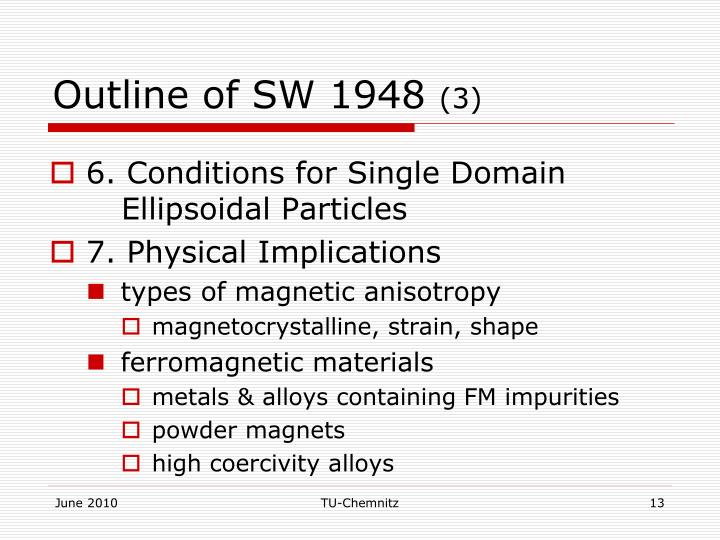Outline of SW 1948