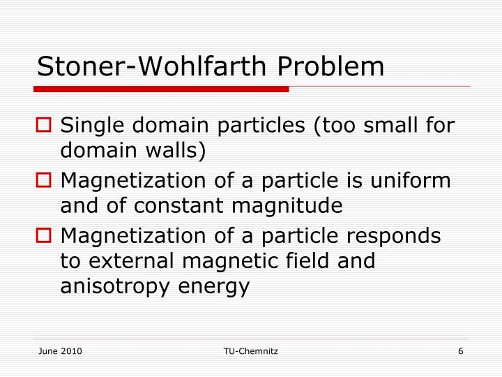 Stoner-Wohlfarth Problem