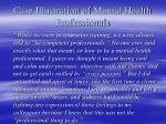 case illustration of mental health professionals