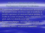 ef a combination of other professional fatigue syndromes