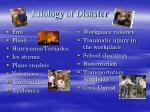 etiology of disaster