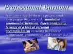 professional burnout