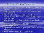 solution focus prevention