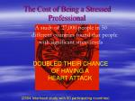 the cost of being a stressed professional
