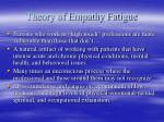 theory of empathy fatigue