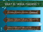 what is homa farming