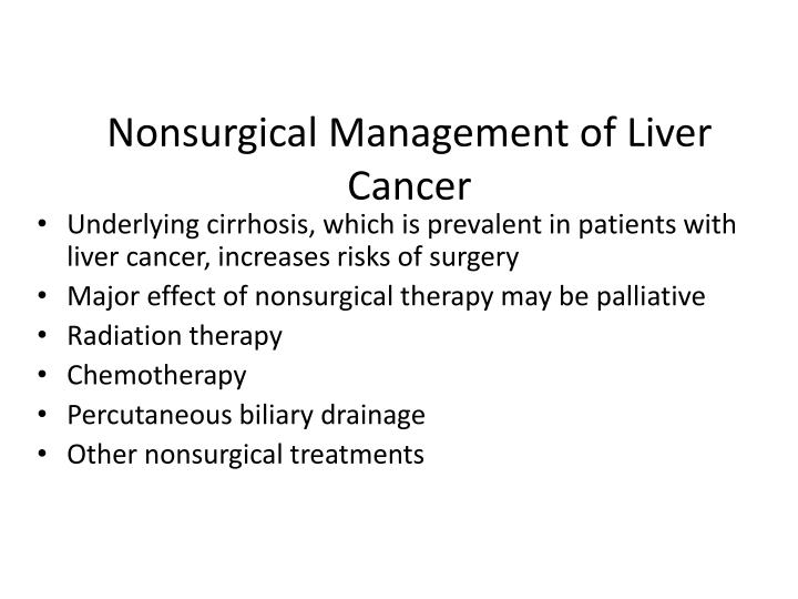 Nonsurgical Management of Liver Cancer