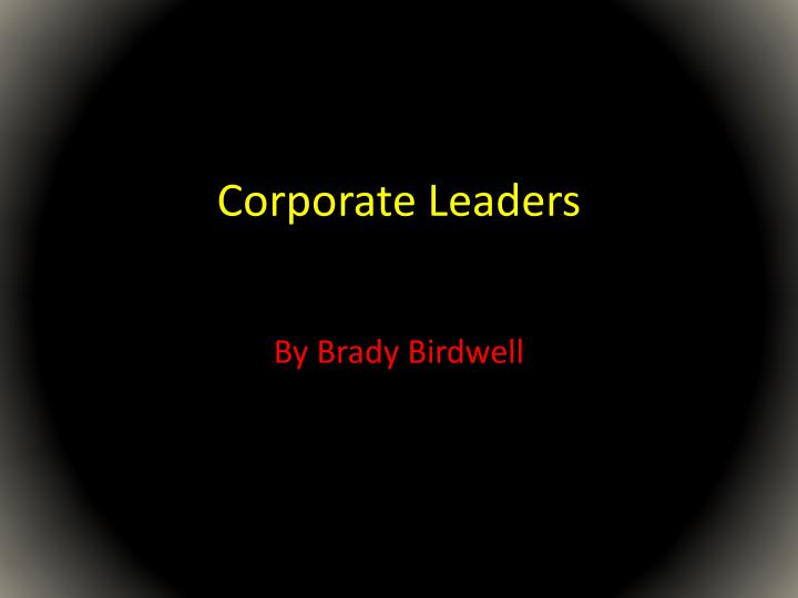 corporate leaders n.