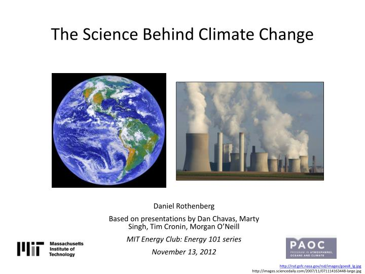 the science b ehind climate change