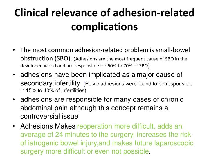 Clinical relevance of adhesion-related