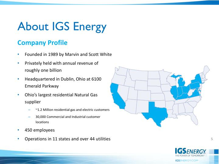 About IGS Energy