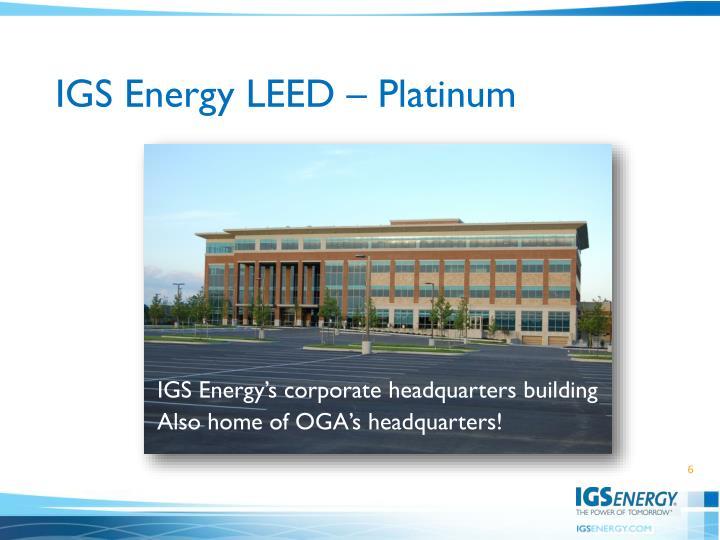 IGS Energy LEED – Platinum