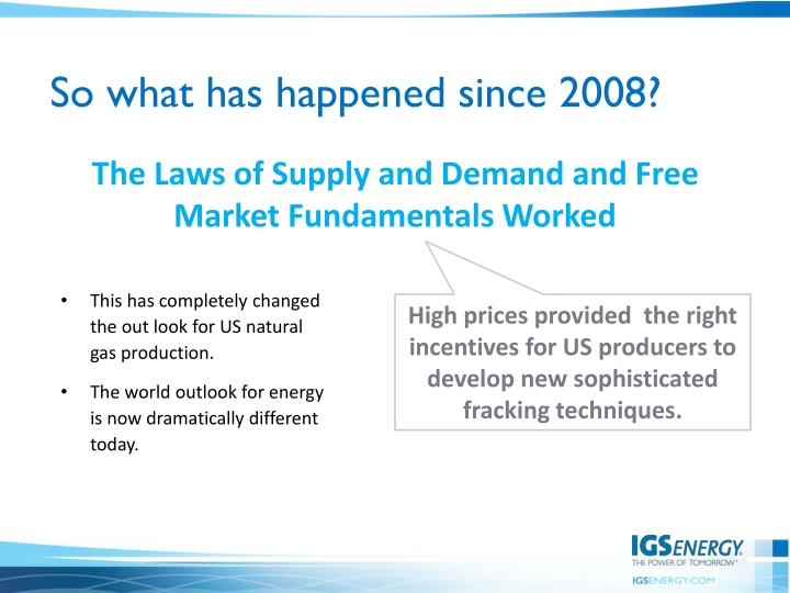 So what has happened since 2008?