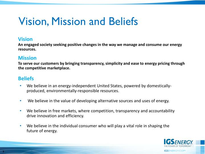 An engaged society seeking positive changes in the way we manage and consume our energy resources.