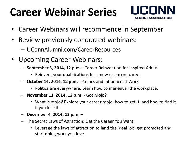 Career Webinar Series