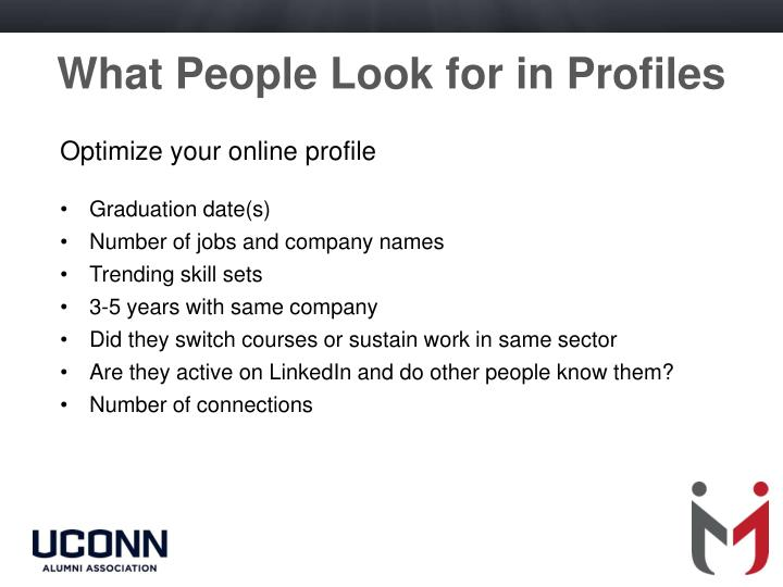 What People Look for in Profiles