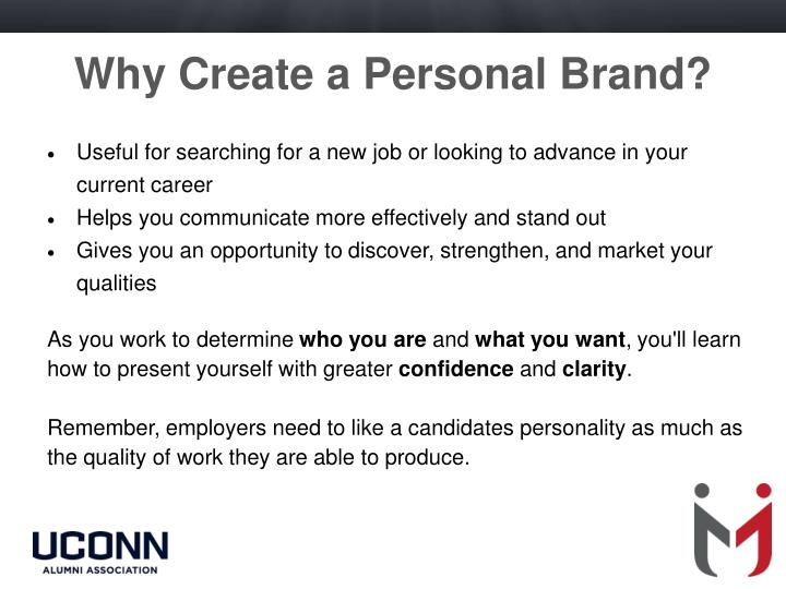Why Create a Personal Brand?
