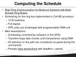 computing the schedule