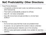 noc predictability other directions