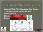 ferroelectric superlattices