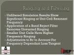 ringing and filtering
