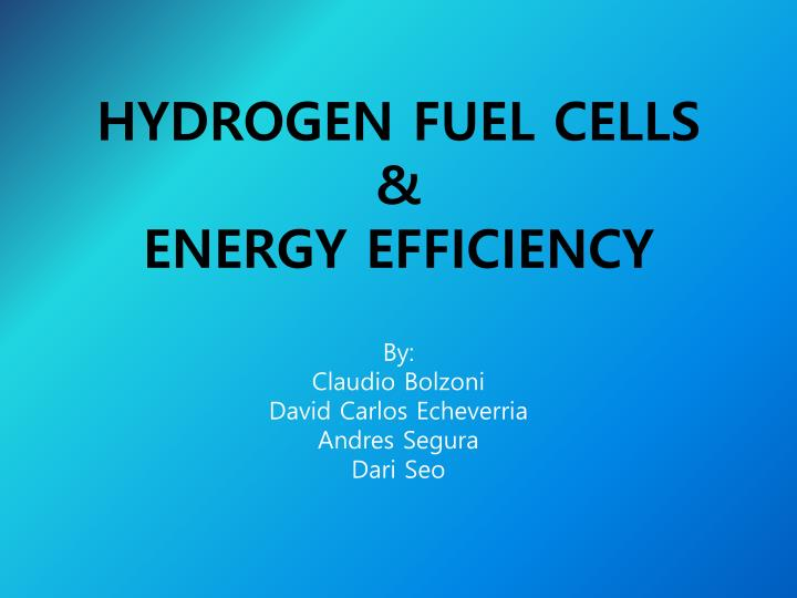 hydrogen fuel cells energy efficiency n.