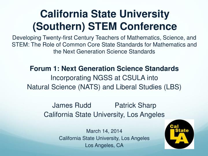 california state university southern stem conference n.