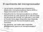 el nacimiento del microprocesador