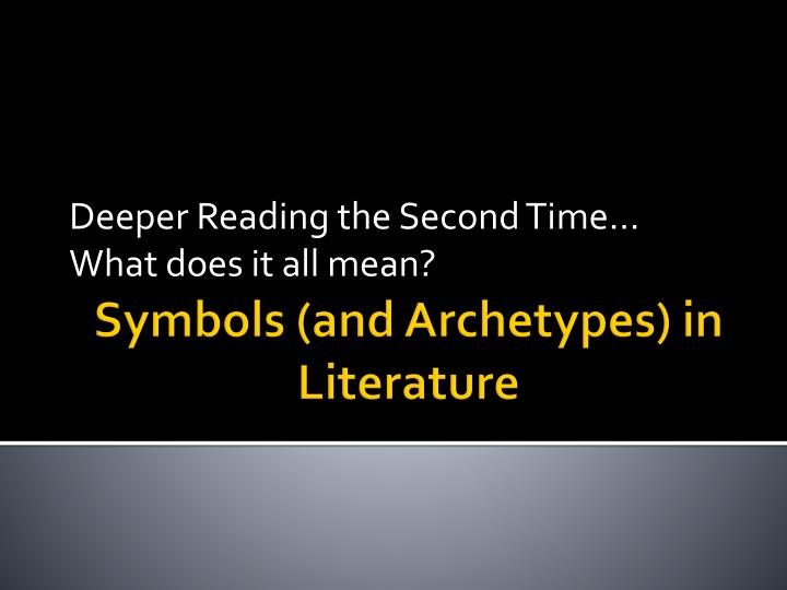 deeper reading the second time what does it all mean n.