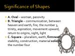 significance of shapes