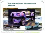 fuel cell powered zero emission vehicles