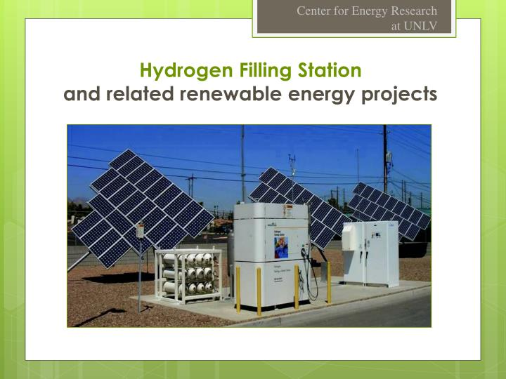 hydrogen filling station and related renewable energy projects n.