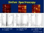 sinfoni spectroscopy