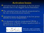 activation losses