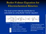 butler volmer equation for electrochemical kinetics