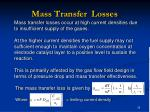 mass transfer losses