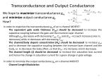 transconductance and output conductance