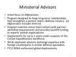 ministerial advisors